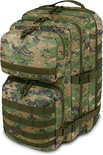US Assault Cooper Pack Large Rucksack im Military Style Farbe Digital Woodland Größe 50 Liter