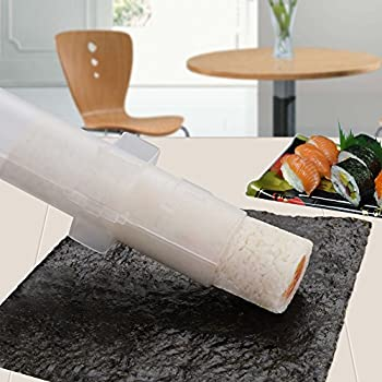 AISHN Sushi Roller Kit Sushi Bazooka Durable Camp Chef Rice Maker Machine Mold-for Easy Sushi Cooking Rolls Best kitchen Sushi Tool