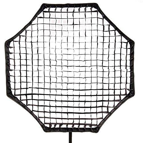 Phot-R 150 cm grande professionale fotografico universale ottagonale tessuto a nido d'ape, morbida griglia per studio fotografico, softbox – nero