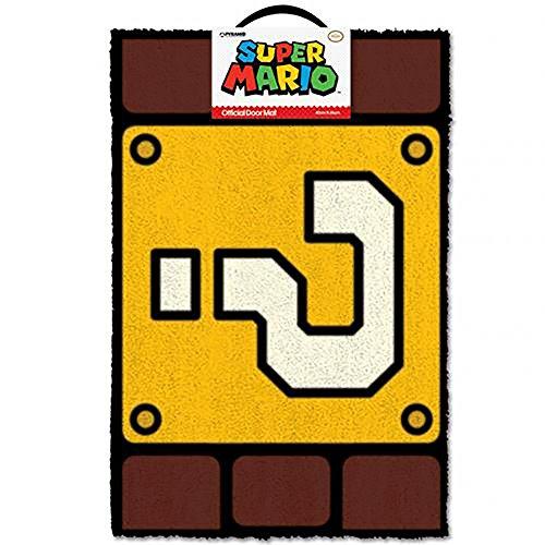 Super Mario Felpudo QUESTION Mark Block, Vinilo, Multicolor, 40 x 60 cm