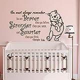 Winnie the Pooh Zitat für Kinderzimmer Zitat mutiger stärker schlauer Dekor Kinderzimmer Baby...