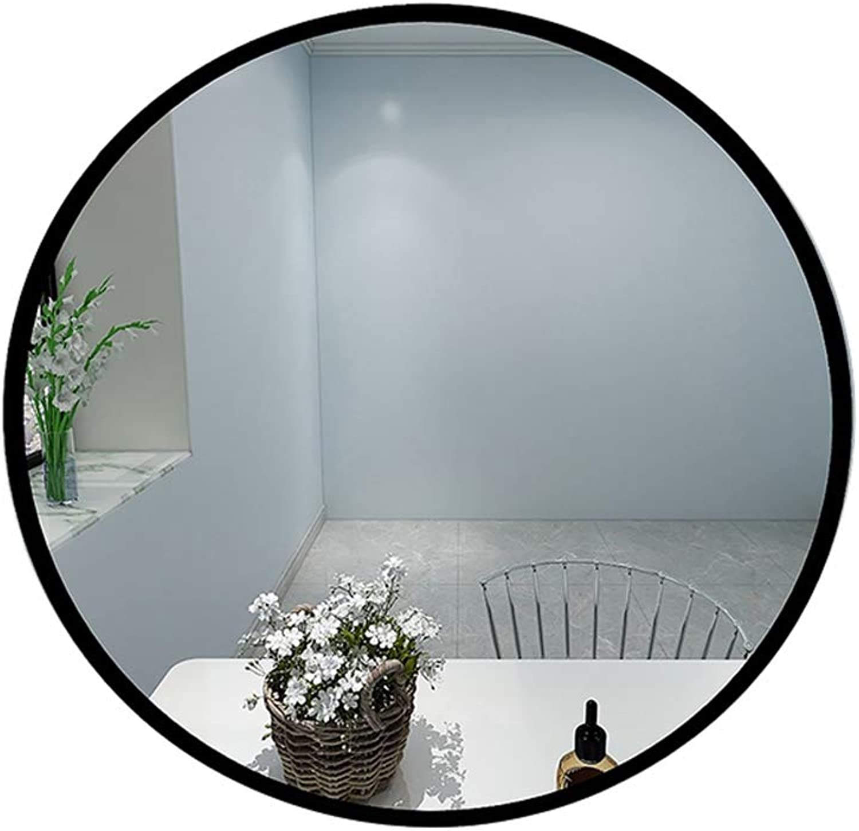 Nclon Modern, Wall-mounting Type 12  Hanging Wall Mirror Black Beveled Bathroom Mirror Vanity Bedroom Restroom Bathroom-Black 30x30cm