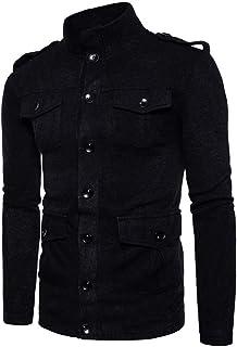 Giacca Transizione da Uomo Moderna giacce Stand Collo Slim Fit Trench Coat Blouson Invernale Autunno Multi Tasche Coat Est...