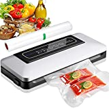 Automatic Vacuum Machine, Aobosi Vacuum Sealer Sealing Machine for Food, Meat, Vegetable, Fruit (with 1 roll of vacuum film and hose for food container)