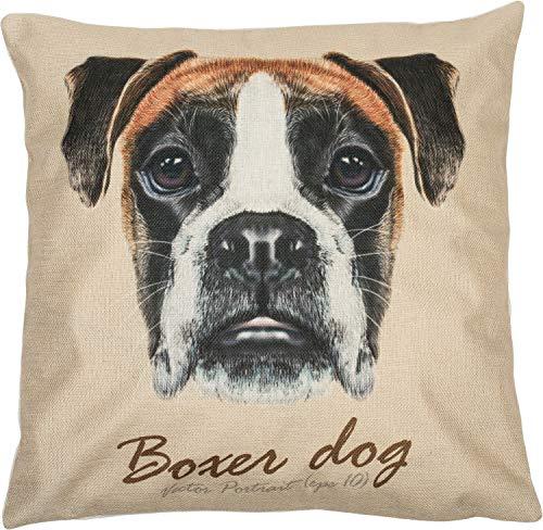 Puccybell Kussensloop met dierenprint digitale boxerhond voor kussens 45 x 45 cm KB001 (Boxer)