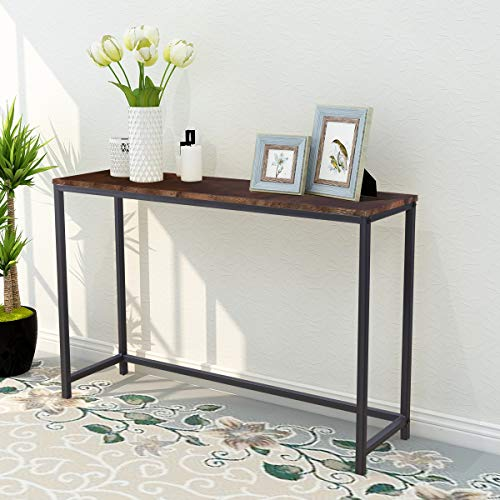 Console Sofa Tables End Table Computer Desk Coffee Snack Console Tables for Living Room Or Corridor Hallway Rustic Brown Color Wood