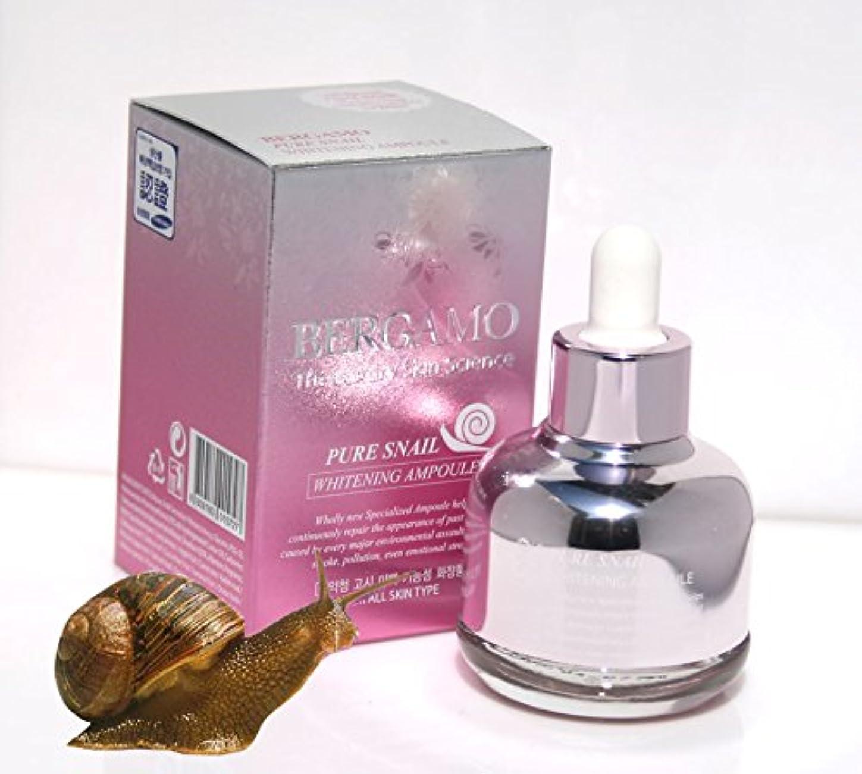 弾力性のある回転するわかる【ベルガモ][Bergamo] 高級スキン科学は純粋なカタツムリホワイトニングアンプル30ml / the Luxury Skin Science Pure Snail Whitening Ampoule 30ml / 韓国化粧品 / Korean Cosmetics [並行輸入品]