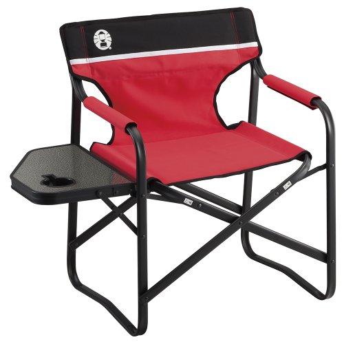 コールマン(Coleman) チェア サイドテーブル付きデッキチェアST レッド 2000017005