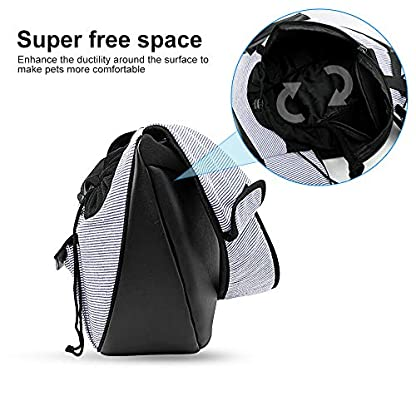 Zuukoo Pet Carrier, Dog Sling Bag Puppy Hands-free Sling Travel Carrier Bag with Adjustable Strap For Small Pets Perfect for Walking, Traveling or Daily Use 5