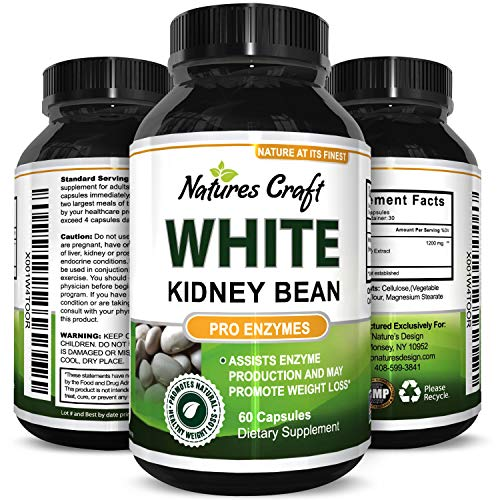 100% Pure White Kidney Bean Extract Natural Carb Blocker & Appetite Suppressant 60 Capsules Bloqueur normal de carb d'extrait de haricot de rein de 100% blanc et suppresseur de l'appétit 60 capsules