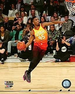 Donovan Mitchell Utah Jazz Slam Dunk Contest 2018 NBA All-Star Game Action Photo (Size: 20