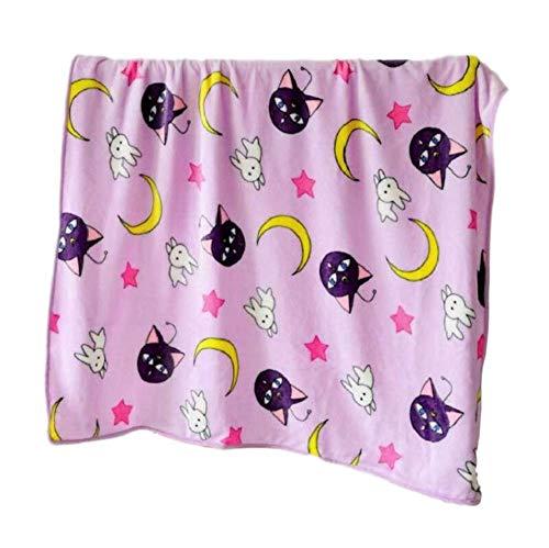 GK-O Sailor Moon Decke Tsukino Usagi Cosplay lila Luna-Decke (Decke 150 x 200 cm)