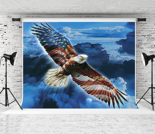 ZOANEN Photography Background,American Eagle,Party Decoration Banner Photo Booth Backdrop for Studio Props(8x6FT)