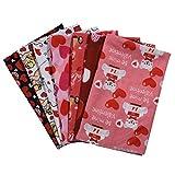 beeyuk Liebe reinen Baumwollstoff Valentinstag Stoff Herz