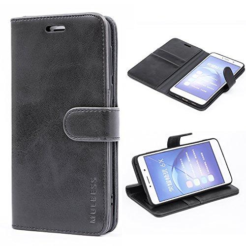 Mulbess Cover per Honor 6X, Custodia Pelle con Magnetica per Huawei Honor 6X / 6X PRO Case, Nero