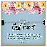 KEDRIAN Best Friend Bracelet, 925 Sterling Silver, Friendship Bracelet, Best Friends Bracelets, Best Friend Gifts For Women, Friendship Gifts For Women