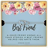KEDRIAN ベストフレンドブレスレット 925スターリングシルバー 友情ブレスレット 親友ブレスレット 女性への親友へのギフト 女性への友情のギフト