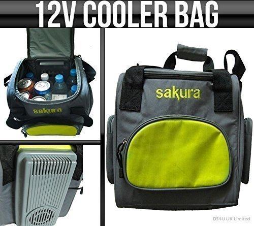 12v Sakura Portable / Travel Car Cooler Fridge Bag 14L Food & D