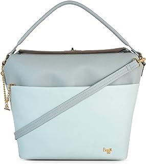 Baggit Spring-Summer 2021 Faux Leather Women's Hobo Handbag (Grey) (Esnug)
