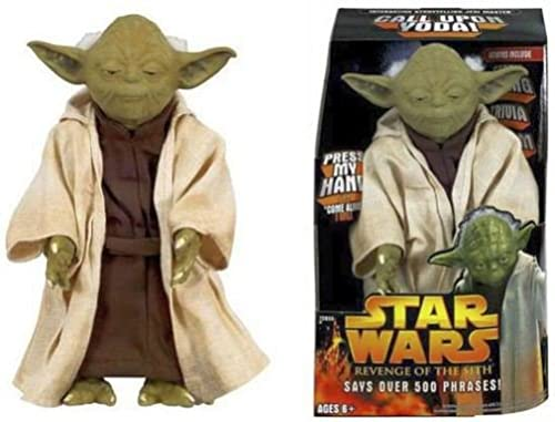 Star Wars CALL UPON YODA Electronic 12 Talking Figure over 500 phrases from Revenge of the Sith by Hasbro 2005