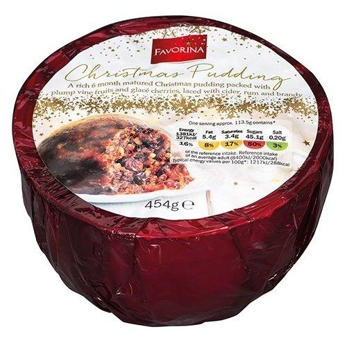 Favorina Christmas Pudding 454g