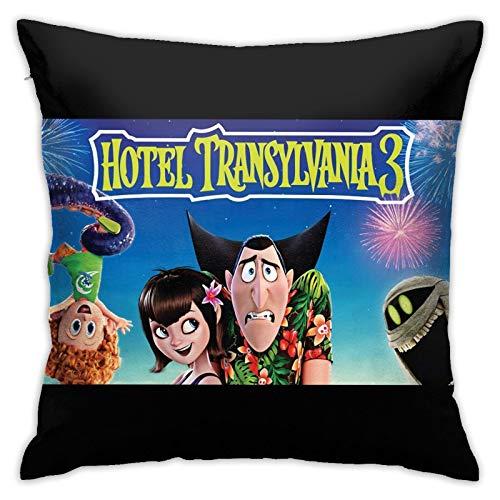 Hotel Transy-Lvania - Fundas de cojín de poliéster suave con cremallera, funda de almohada decorativa para dormitorio, sofá jardín de 45,7 x 45,7 cm