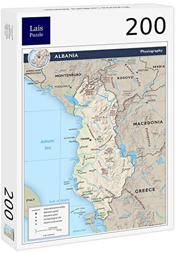Lais puzzel Fysieke kaart van Albanië 200 stuks