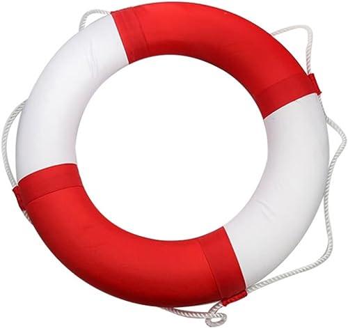 FAFY Floating Ring Float Boje Für Wassersport Segeln Stiefelfahren Schwimmen Lebensrettende Seil Schnur,rot
