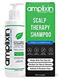 Amplixin Scalp Therapy Shampoo - Dry, Itchy Scalp Treatment With Tea Tree Oil For Men and Women -...