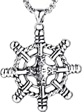 ZPPYMXGZ Co.,ltd Collar de Moda Clásico Moda Salvaje Popular Charm Collar Hombres Niño Barco Pirata Casco Collar Colgante de Acero Inoxidable