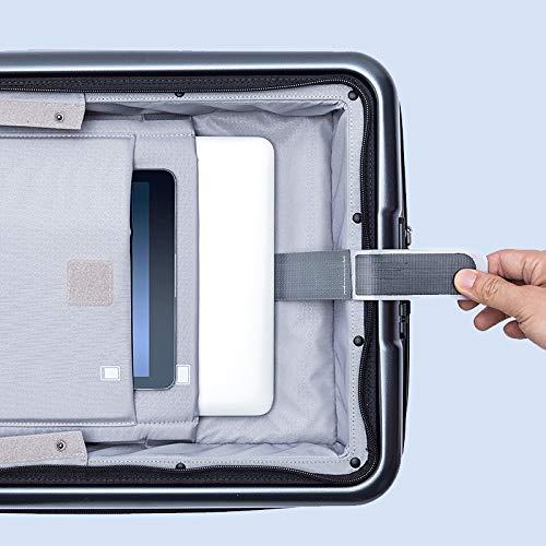KGDUYH Maleta Maleta de Negocios 20 Pulgadas con Cubierta Frontal Ruedas de hilanderas TSA TSA Cierre de Bloqueo de Equipaje para Viajes de Negocios (Color : Black, Luggage Size : 20')