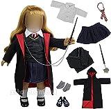 ZITA ELEMENT 8 Pièces Hermione Granger Vêtements et Accessoires pour Doll et Autres Poupées de 45-46 cm.