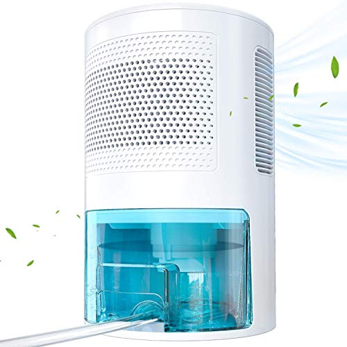 LONOVE Dehumidifiers for Home - 5000 Cubic Feet (450 Sq.ft) Upgraded with Drain Hose Dehumidifiers for Home Room Bathroom Bedroom Closet RV Basements, 1800ML (61 oz) Quiet Portable Small Dehumidifier