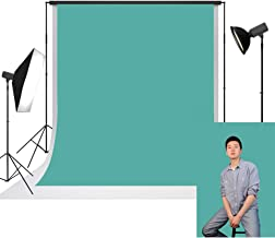 Sponsored Ad - UrcTepics 5x7ft Microfiber Teal Blue Backdrop Pure Color Photo Background Microfiber Polyester Backdrops fo...