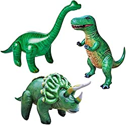 5. Jet Creations Jumbo Inflatable Dinosaurs (3pcs)