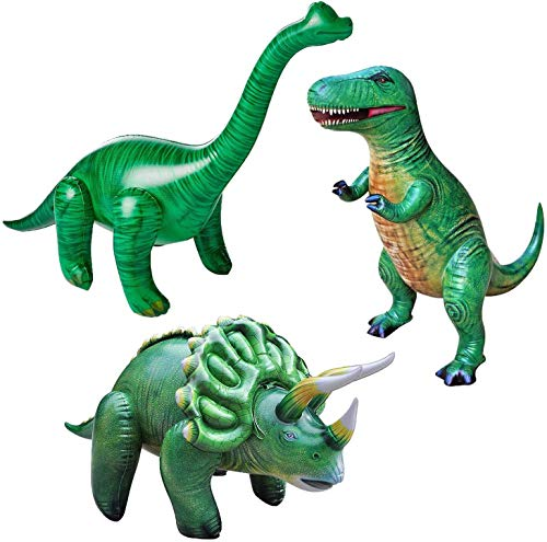 Tyrannosaurus Jet Creations Jumbo Inflatable Dinosaur Pool Toys Rex, Triceratops, Brachiosaurus