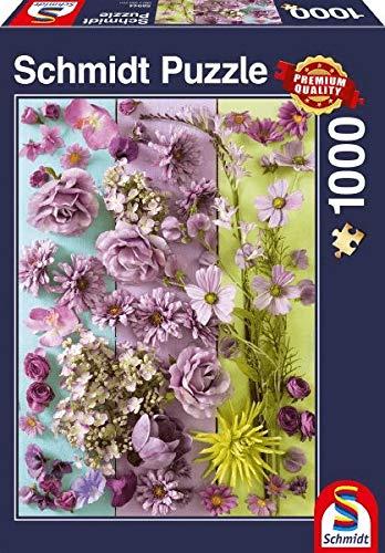 Schmidt Spiele 58944 Violette Blüten, 1000 Teile Puzzle, bunt