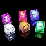 SmartRICH Cubito de Hielo LED para Boda o Club, 12 Unidades, Multicolor 4 Piezas