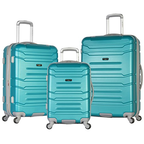 Olympia Denmark 3 Piece Luggage Set, Teal