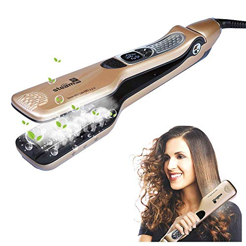 iGutech Professional Flat Iron Hair Straightener with Spray Ceramic Tourmaline, Anti-Scald comb, Adjustable Temp and Auto-off function