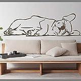 Bulldog francés Animal mascota etiqueta de la pared sofá decoración de fondo dormitorio cachorro pared calcomanía habitación de los niños vinilo decoración del hogar A4 94 × 28 CM