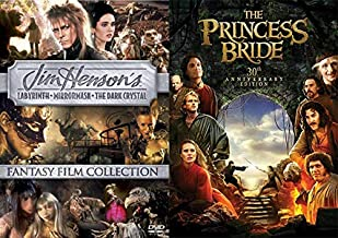 80's Ultimate Fantasy Film Collection 4-Pack Jim Henson's Labyrinth / The Dark Crystal / MirrorMask (Neil Gaiman) + The Princess Bride (30th Anniversary Edition) DVD Family Movie Bundle