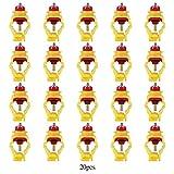 Garosa 20pcs / Pack Snap and Lock Nipples Pipas De Agua Bebederos Automáticos Alimentador De Pollo Dispensador De Agua Pezón Comedero Nipple para Aves De Corral Pollo Pato Gallina(20mm/0.79in)