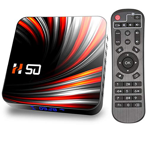 MMFFYZ Android WiFi 16GB 32GB 64GB HD Network TV decodificador 6K TV Box Asistente de Voz de Google 2.4G 4GHz WiFi Reproductor Multimedia 3D Decodificador(Size:2GB+16GB)