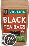 Organic Black Tea Bags | 100 Tea Bags | Eco-Conscious Tea Bags in Kraft Bag | Raw from China | by FGO