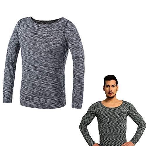 FR&RF T-Shirt Faux Muscle Invisible pour Homme Respirant Scrap Body Simulation Rapide Lingerie Faux Poitrine Doublure - Couleur,XS