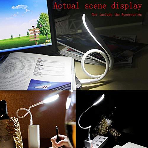 LED USB-lamp - Touch schakelaar, draagbaar, dimbare boekenlamp flexibel licht voor notebooks, tablets, powerbanks, PC -nachtlamp, leeslamp, laptoplamp
