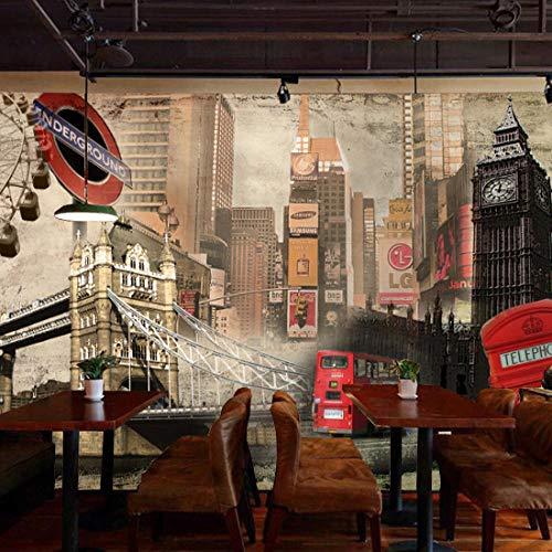 Fotomurales Decorativos Pared Vinilos Decorativos Papel Fotografico 3D Estilo Europeo Retro Edificio Británico Gran Mural Café Sofá Fondo Londres Fondo De Pantalla