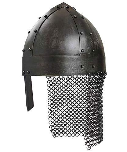 Vikingo Casco de pasador de acero Deko Casco schaukampftauglich Ritter Casco LARP Vikingo Varios Modelos
