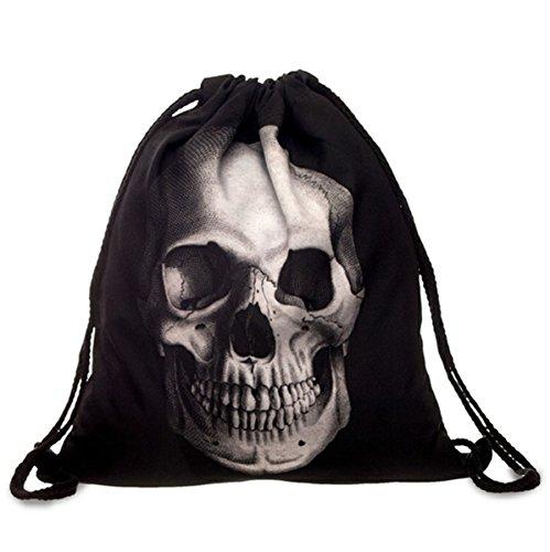 Beutel Tasche Rucksack Turnbeutel Print Skull Totenkopf